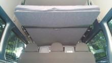 Ford Transit Autohimmelbett herunter gelassen von vorne