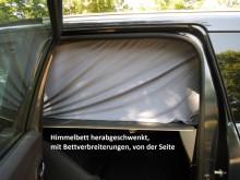 Dacia Lodgy, Autohimmelbett herabgeschwenkt, von der Seite