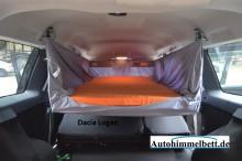 Dacia Logan heruntergeschwenktes Auto-Himmelbett Verdunklungsstoff Heckansicht