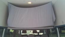 Ford Transit Autohimmelbett herunter gelassen