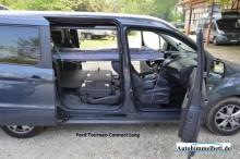 Ford Tourneo Connect Lang Neu Autohimmelbett Seitenansicht bequem zu zweit im Auto schlafen
